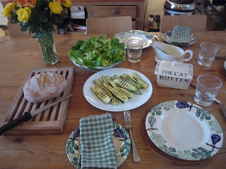 English country lunch; kitchen lunch