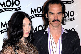 Nick Cave and wife Susie Bick at 2008 MOJO Honours Awards