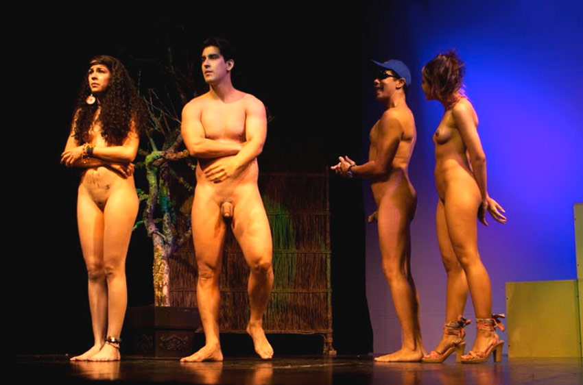 theater stage Naked on