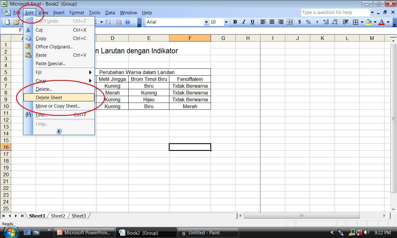 Workbook Dan Worksheet Ms Excel