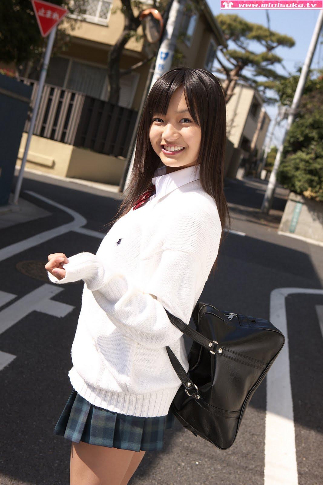 Mayumi Yamanaka In Winter School Uniform  Japanese Girls 2011-1547