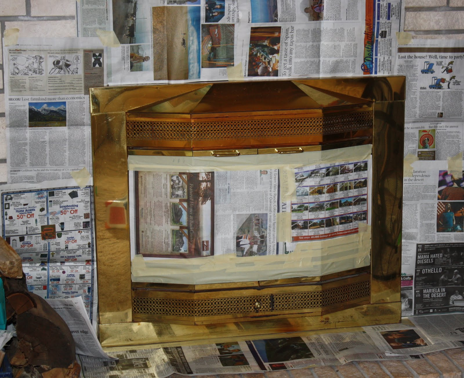 Little House In The Country Fireplace Before Amp After