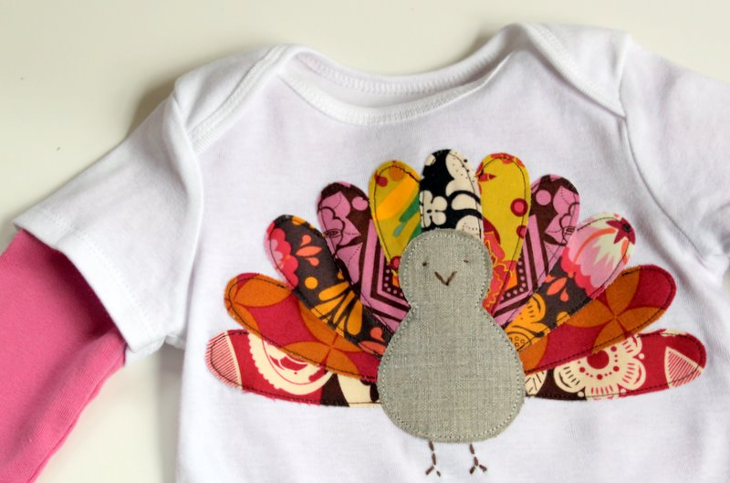 f32dca8d70 Gobble, Gobble: Turkey Shirt Tutorial - The Cottage Mama