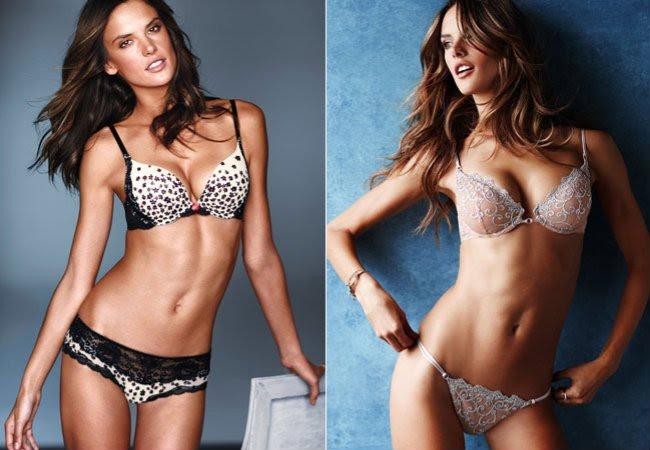 ddab1b6c5 Alessandra Ambrosio aparece de lingerie no novo catálogo da