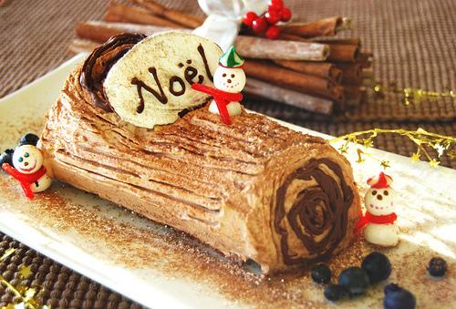 French yule log