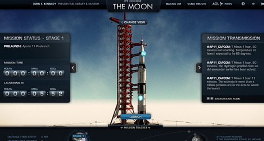 We Choose The Moon beautiful flash website