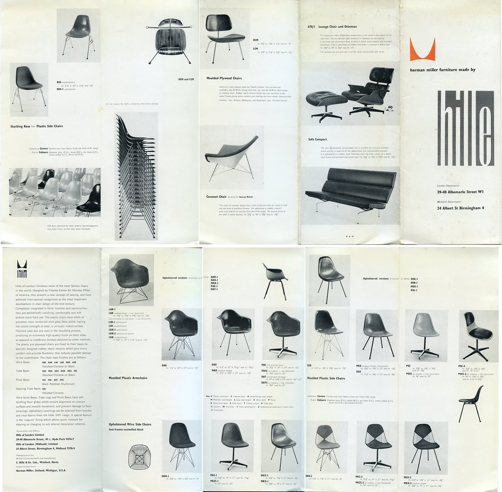 Catalog Furniture Companies: MODERNDESIGN901: Vintage Herman Miller Brochure