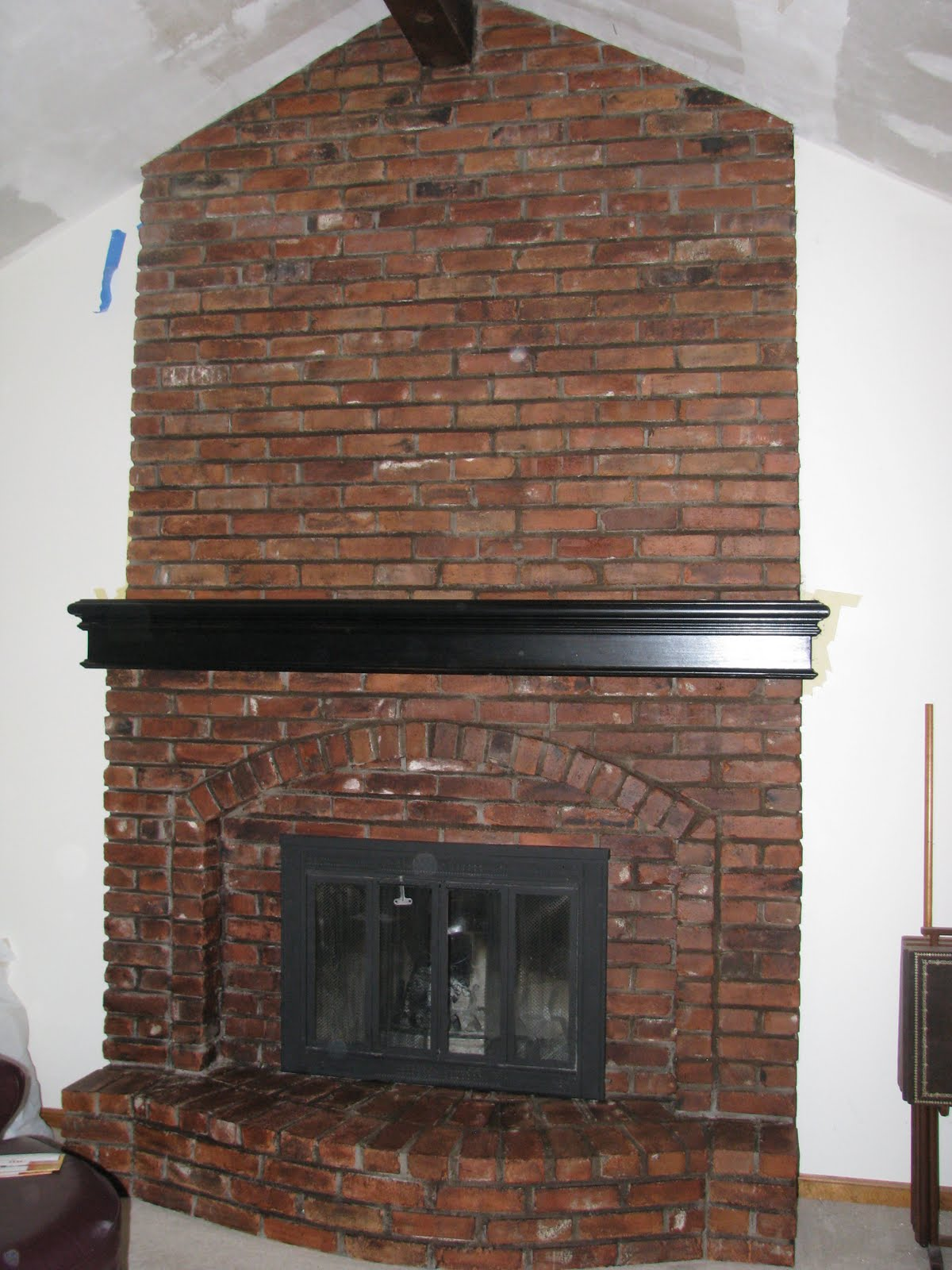 Let us bring your brick fireplace into this decade - Floor to ceiling brick fireplace makeover ...