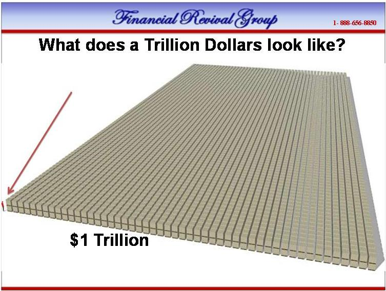 What does one TRILLION dollars look like in 100 dollar bills? | Jdy Ramble On