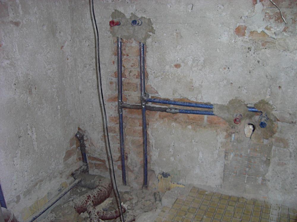 Wohnungsrenovierung Altes Bad Raus Und Neue Installation Rein