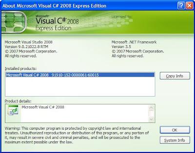 Visual C# 2008 Express Edition Portable
