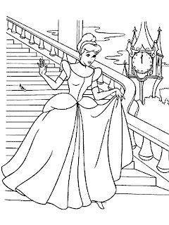 Cinderela para Colorir – Desenhos para Imprimir de Princesas
