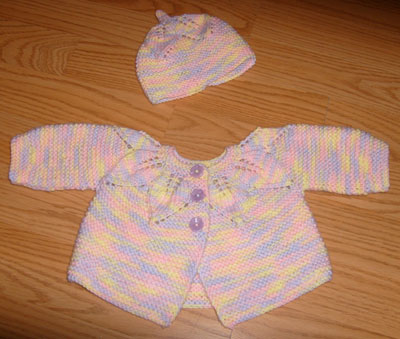 1c810889d Revelations of a Delusional Knitter  FO  Leaf Pattern Baby Sweater