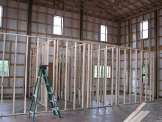 Texas Barndominium Interior Framing