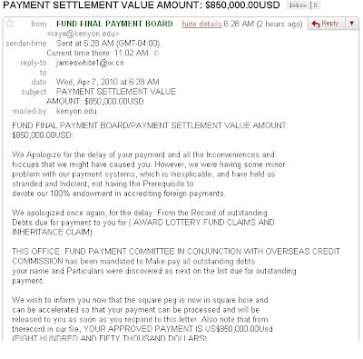 { SCAM } PAYMENT SETTLEMENT VA...