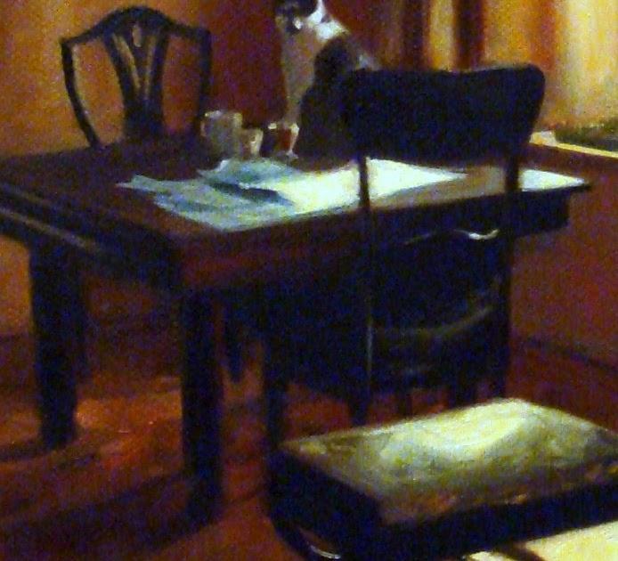 Messy Dining Room: Jonelle Summerfield Oil Paintings: Messy Dining Room Table