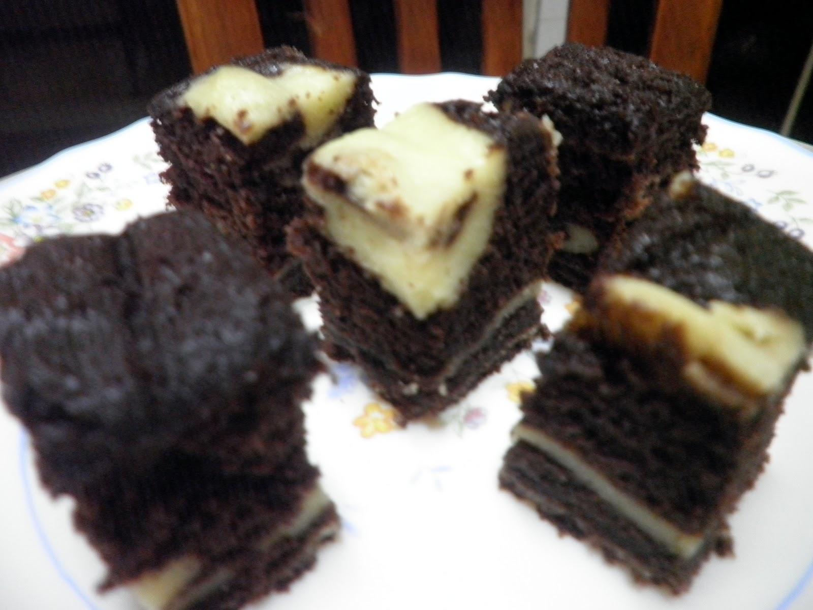 kek coklat cream cheese Resepi Www Kek Cawan Com My Enak dan Mudah
