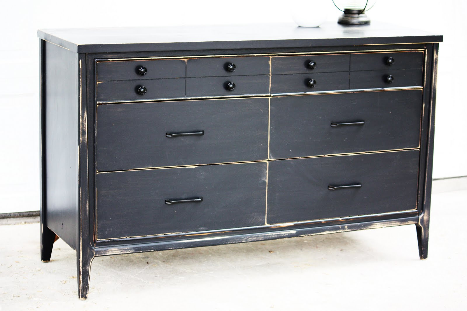 Distressed black dresser – Furniture table styles