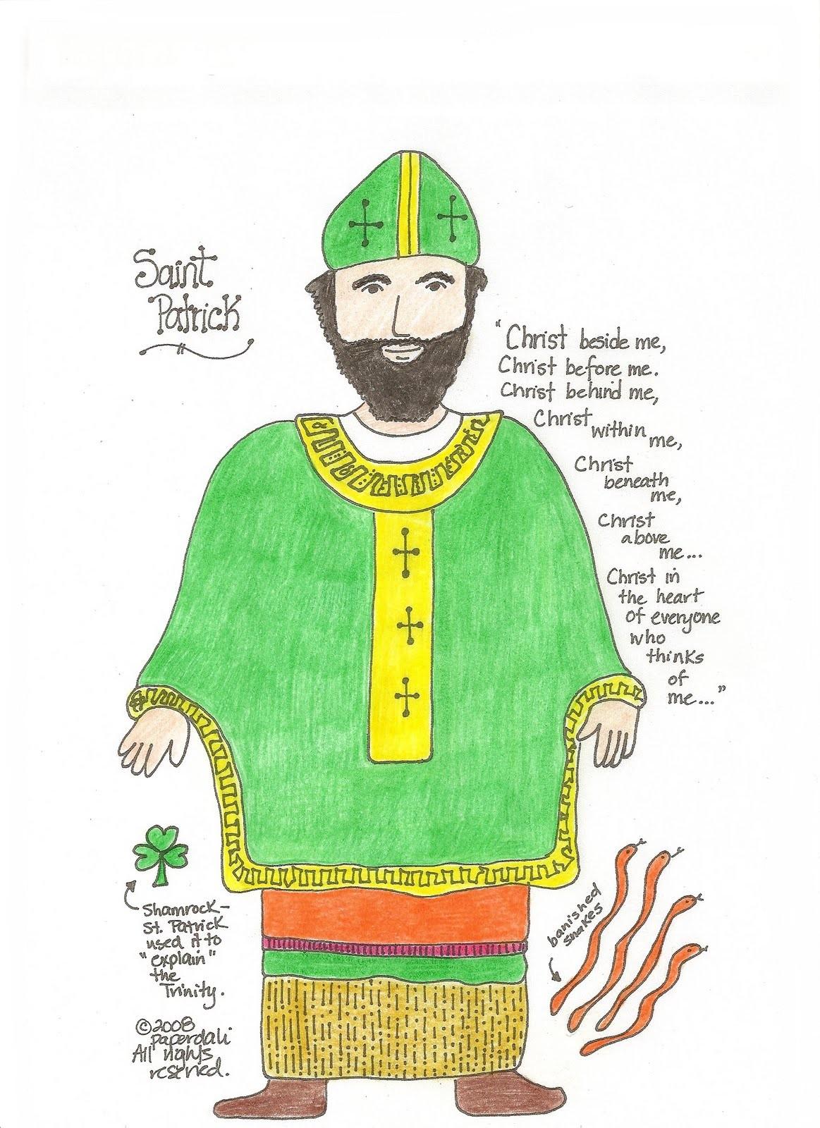 Paper Dali St Patrick Doll And Unit Study San Patricio