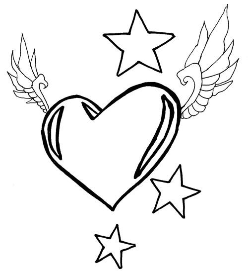 Desenho Coração Colorir