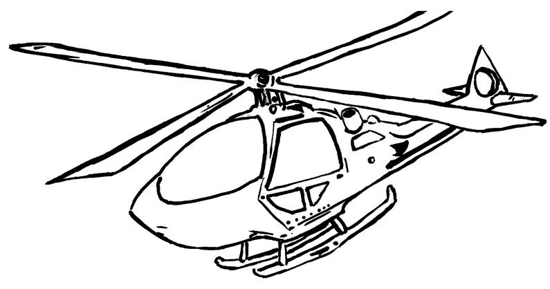 Desenho Infantil Helicóptero Para Colorir
