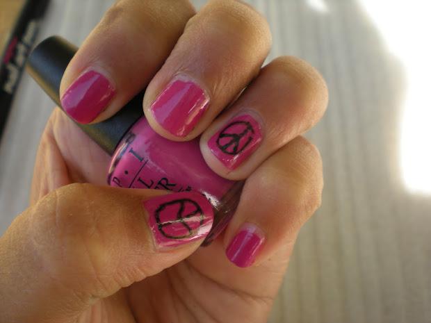 posh polish peace sign nails