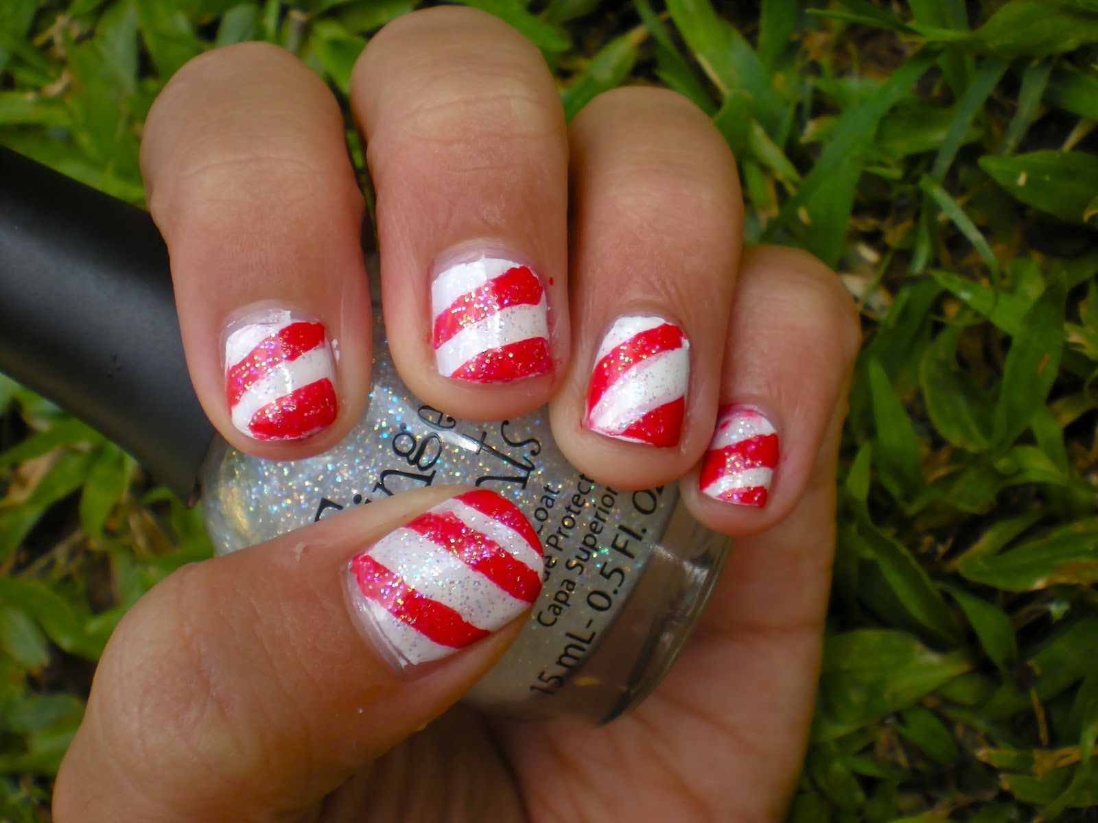 Posh for Polish: Candy Cane Nails