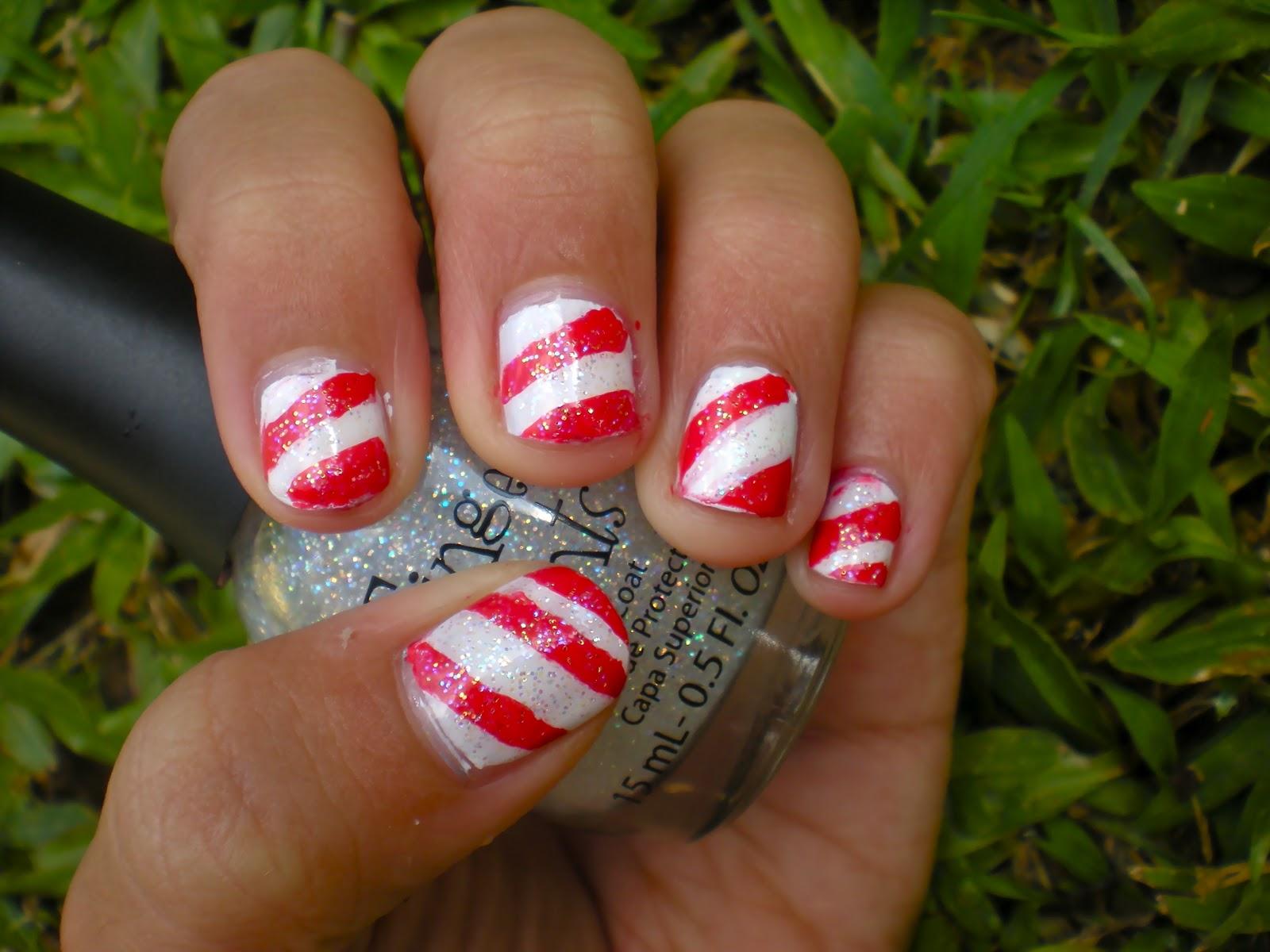 Posh for Polish: Candy Cane Nails