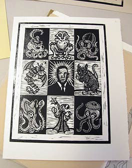 Liv Rainey-Smith, Lovecraft trading cards block, 2010
