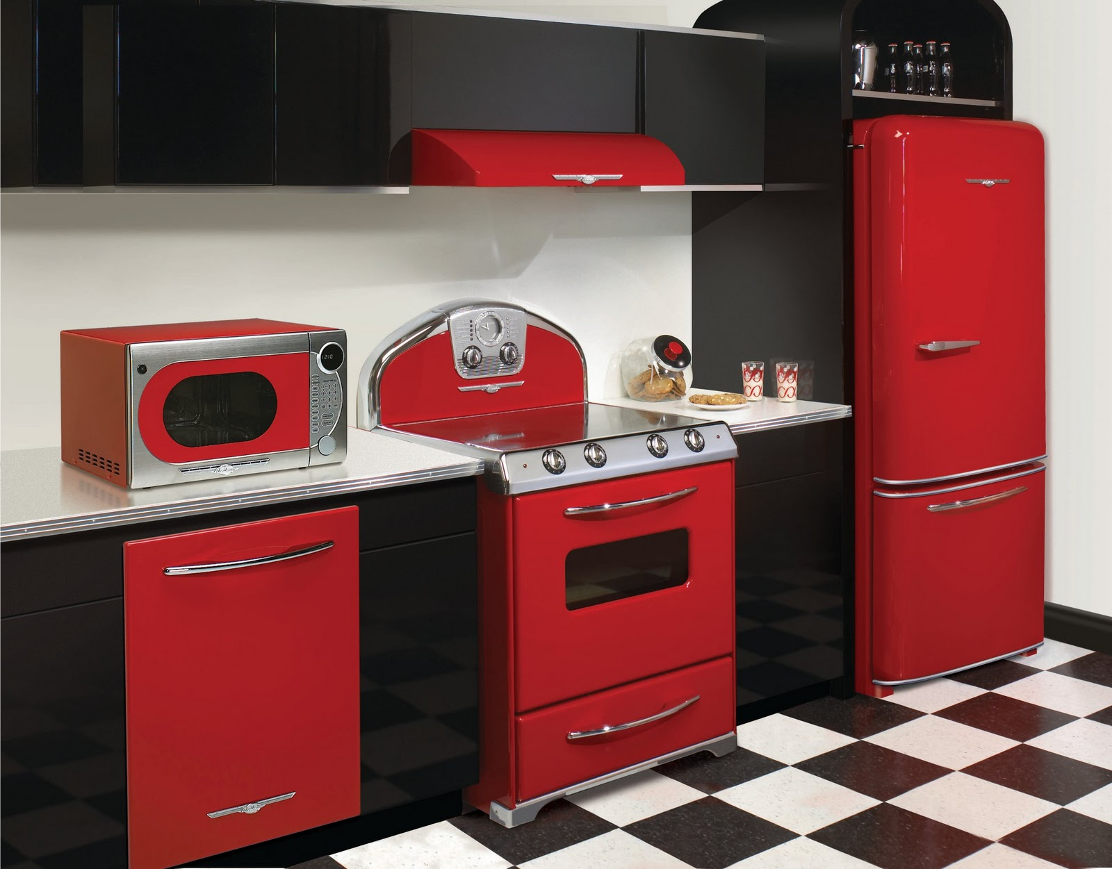 Red Vintage Kitchen Appliances