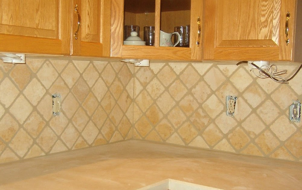 Travertine Kitchen Tile White