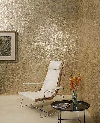 Kitchen and Residential Design: Mother of pearl wall tile