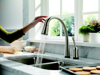 Delta Toucho Kitchen Faucet Red Light