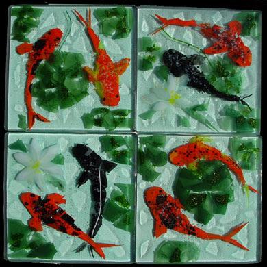 Tile Mural Vases  Dl Kitchen Backsplash Ideas