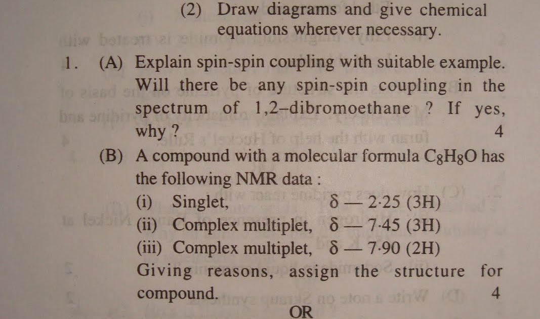 Bsc final year exam chemistry question paper 2 rtmnu for Rtmnu time table 4th sem