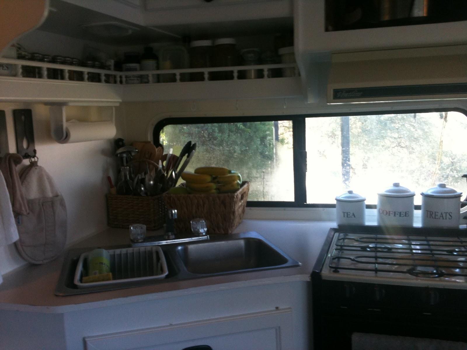Camper Kitchen Sink Remodel
