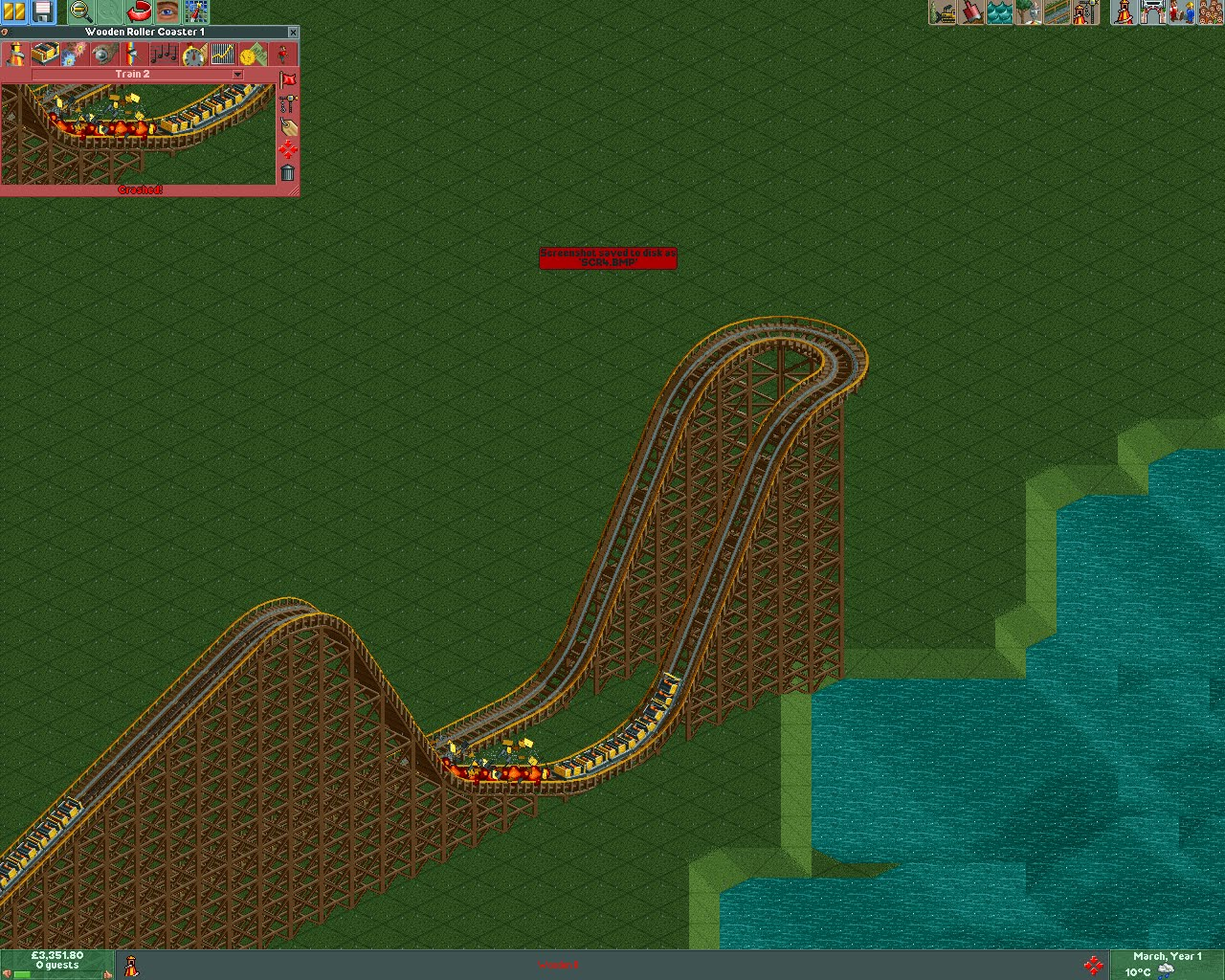Roller Coaster Tycoon II: RCT explosions