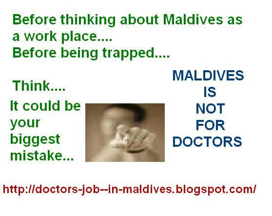 Doctors in Maldives  Job in Medicine & The Realities around it