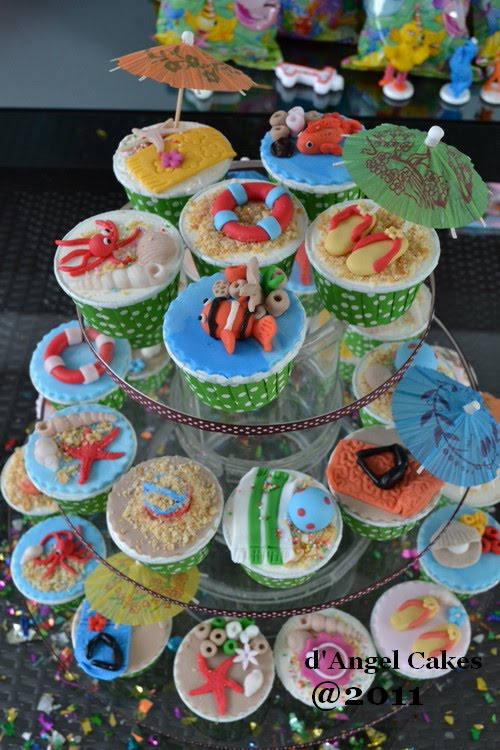 D Angel Cakes Under The Sea Theme Cupcakes