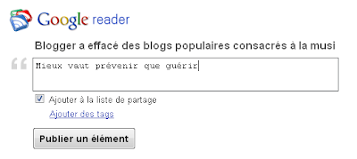 buzz button share via google reader