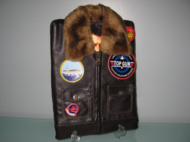 top gun leather jacket dvd case
