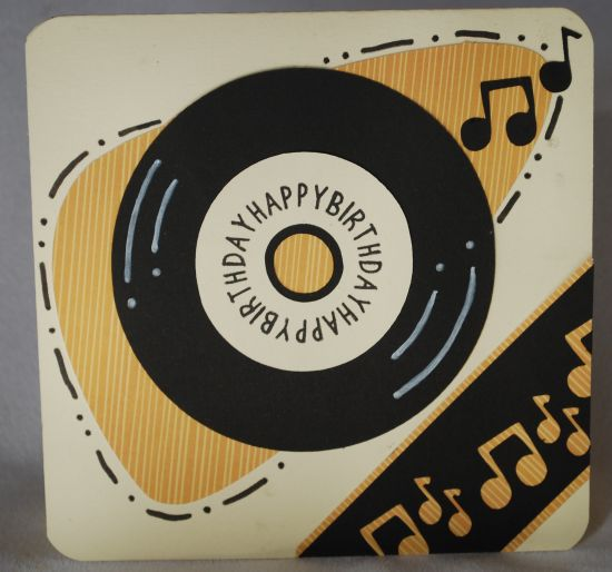 Amanda's Crafts And More: Happy Birthday Record Card