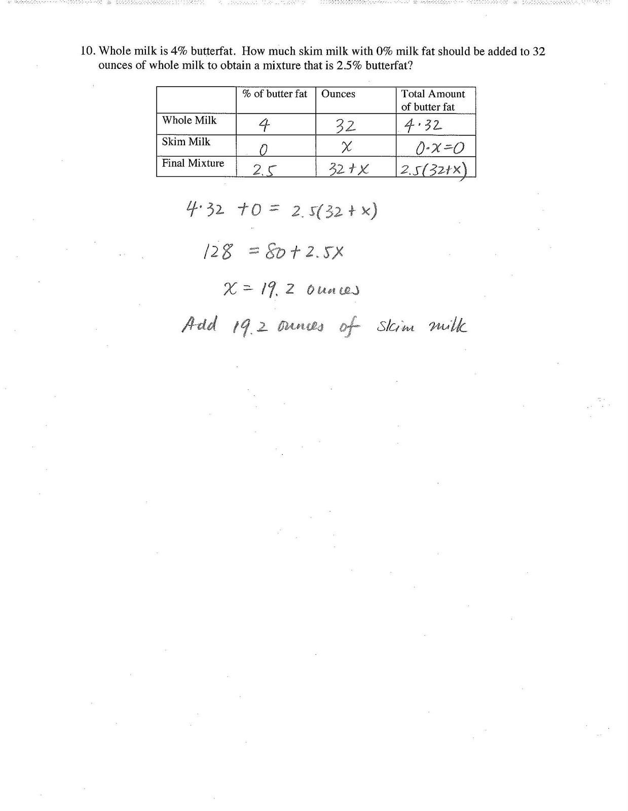 Jiazhen S Algebra I Unit 2 Test Review Sheet With Answer Key
