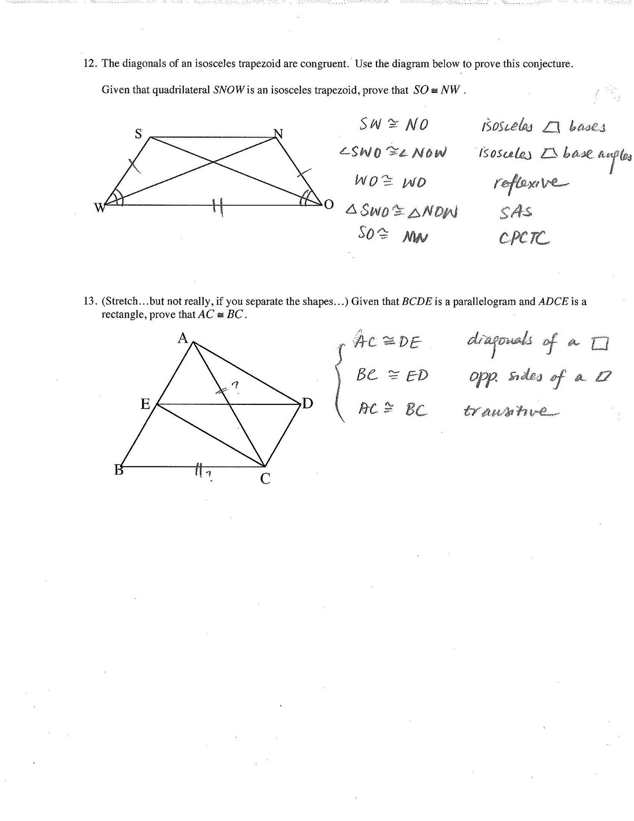 Unit 7 polygons and quadrilaterals homework 3 answer key [ 1600 x 1236 Pixel ]