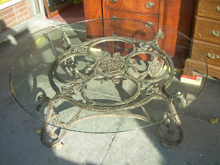 Uhuru Furniture Amp Collectibles Sold Ornate Iron Amp Glass
