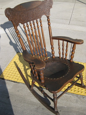 rocking chair antique styles xora office uhuru furniture & collectibles: sold - $40