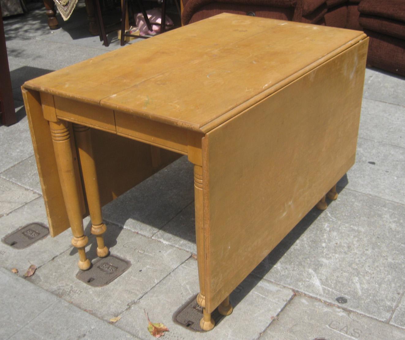 Sold Blonde Drop Leaf Table 80