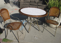 Uhuru Furniture & Collectibles Sold - Patio Table And Two