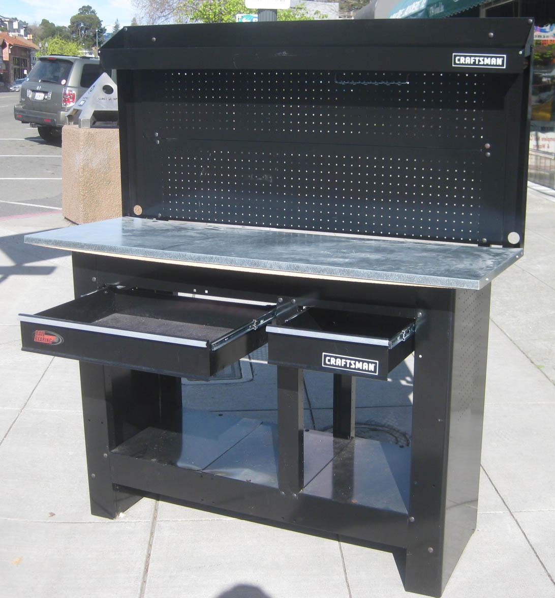 UHURU FURNITURE & COLLECTIBLES: SOLD - Craftsman Workbench ...