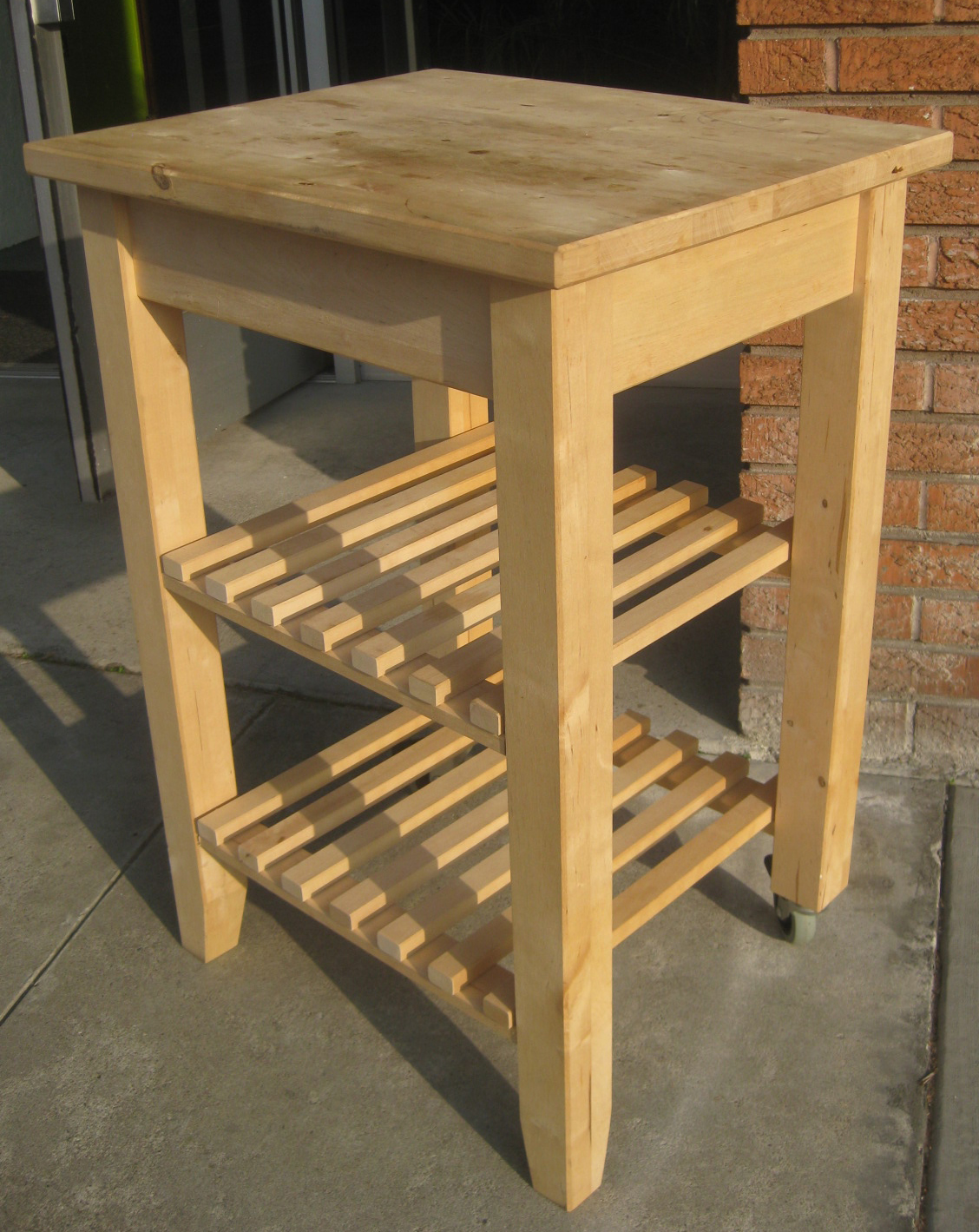 Küche Portable Uhuru Furniture And Collectibles Sold Butcher Block